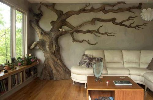 Искусственные деревья в интерьере от