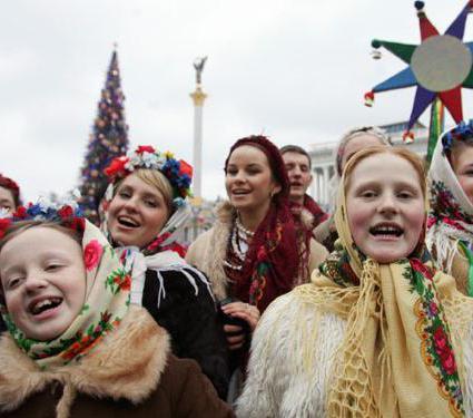 колядки песни текст на русском 6 класс
