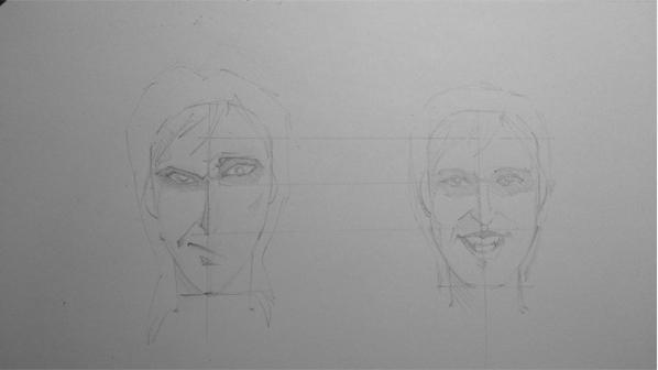 как нарисовать джеффа убийцу карандашом