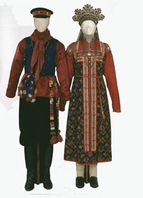 русский народный костюм нарисовать поэтапно