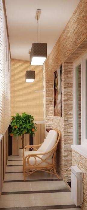 Потолок на балконе фото