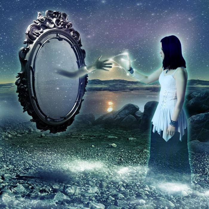 Отражение содержимое внутри фото