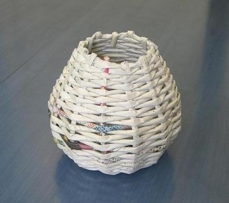 плетение из газет начало плетения