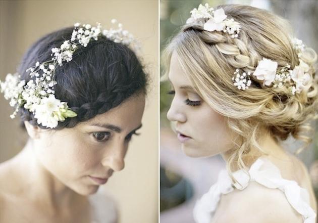 Свадебные прически на среднюю длину в стиле Boho