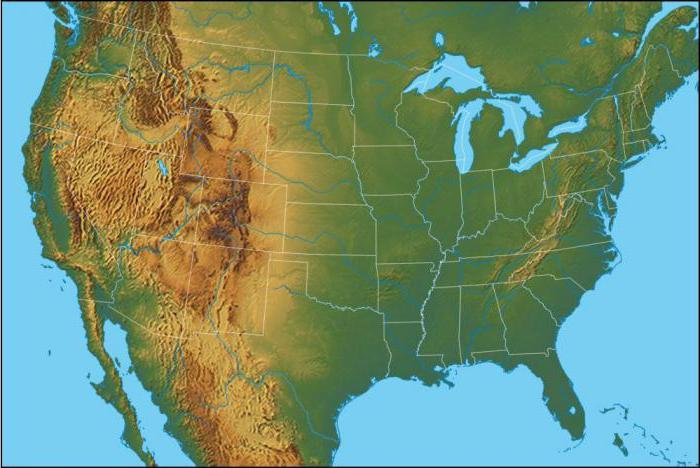 обозначение рельефа на карте