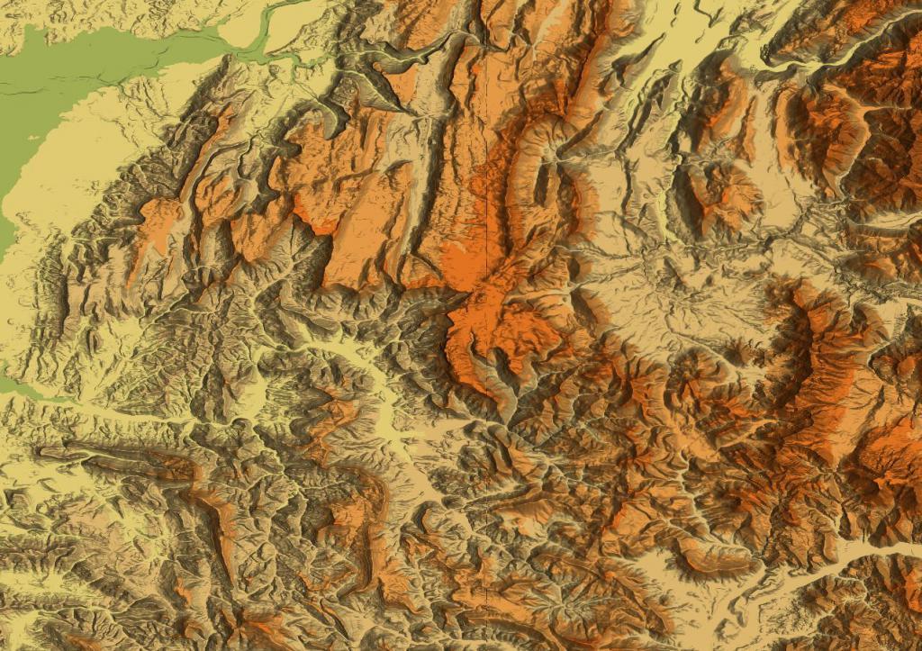 картинку рельефа земной поверхности на карте брать
