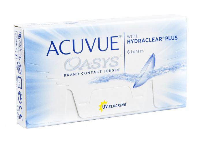 оптика контактные линзы