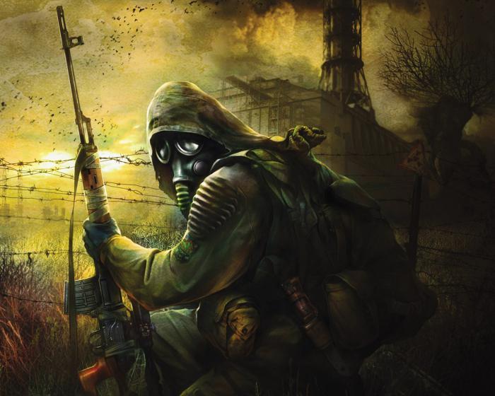 Сталкер, Чистое небо, зона, аномалии, Чернобыль, припять, костюм,игра.