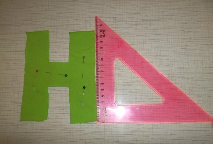 как сшить буквы из ткани