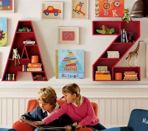объемные буквы в детской мебели
