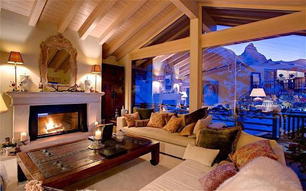 интерьер дома в стиле шале проекты
