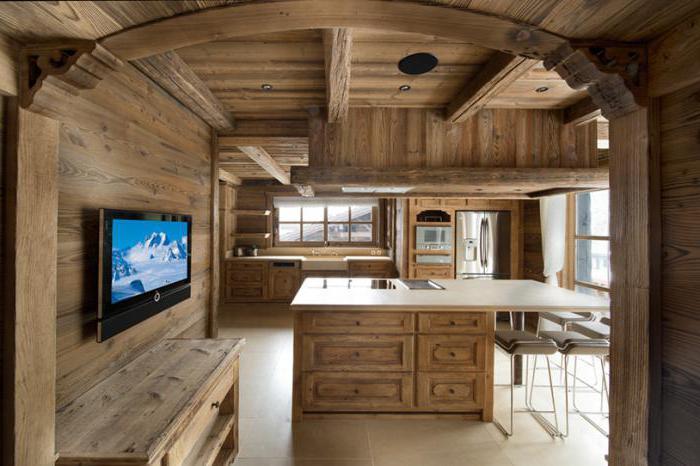 интерьер дома в стиле шале внутри фото