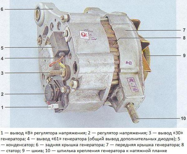 генератор ваз 2107 схема