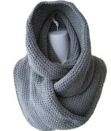 трикотажный комплект шапочка и шарф снуд своими руками