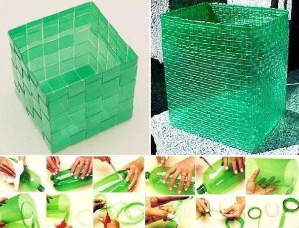 плетение корзины из пластиковых бутылок пошаговая инструкция