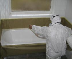 ремонт покрытия эмали ванны