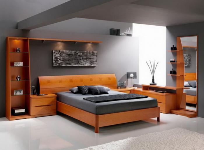 Мебель какого цвета подойдет к сиреневым обоям 6