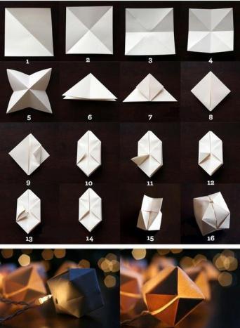 бумажные фонарики своими руками