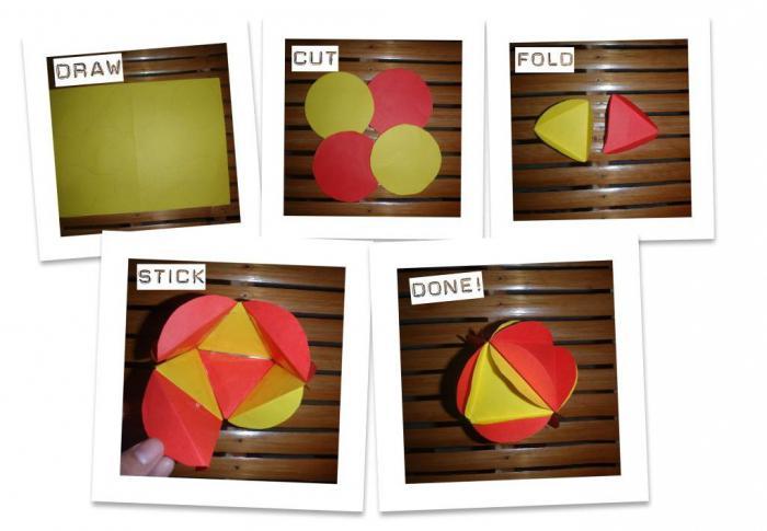 оригами фонарик из бумаги