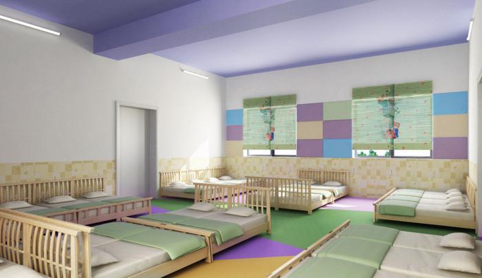 оформление спален в детских садах