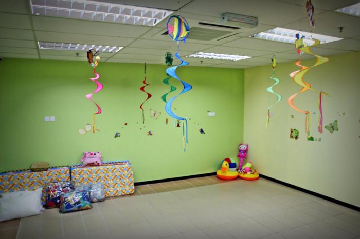 украшение спальни в детском саду