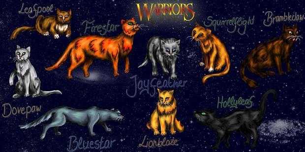 Коты воители имена персонажей