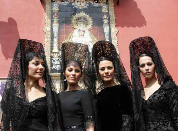 Испанский костюм для танцев.