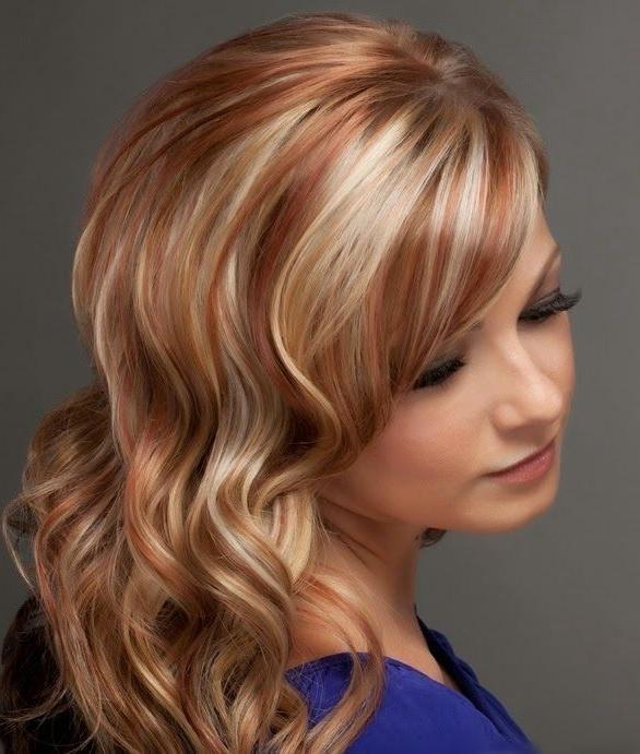 Мелирование рыжих волос