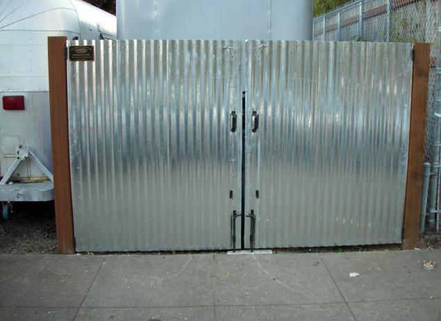 ворота из профлиста своими руками проекты