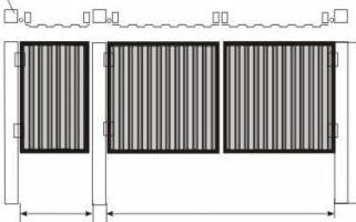 Чертеж простых ворот из профлиста с отдельной калиткой