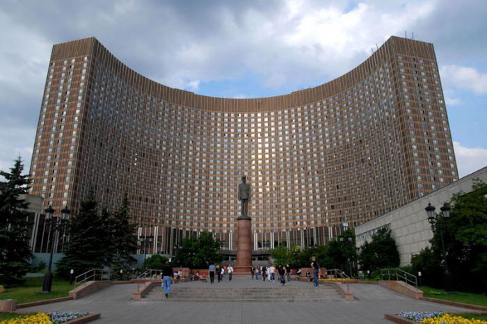 гостиницы в москве космос