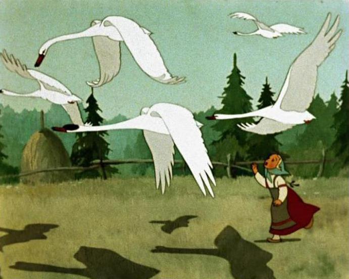 гуси-лебеди сказка краткое содержание