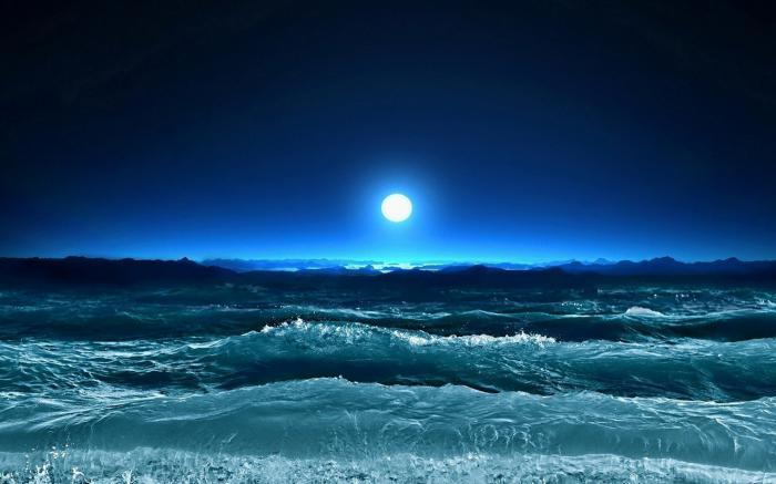 луна приливы и отливы