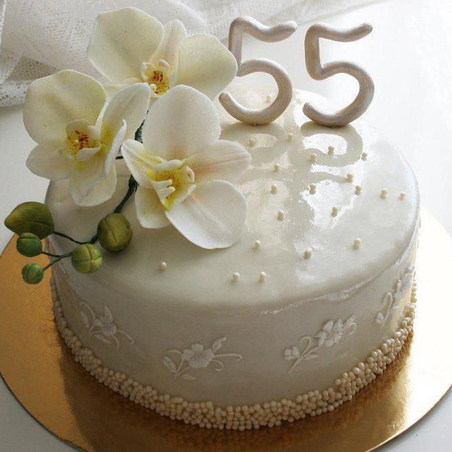 кремовые торты на юбилей 55 лет женщине