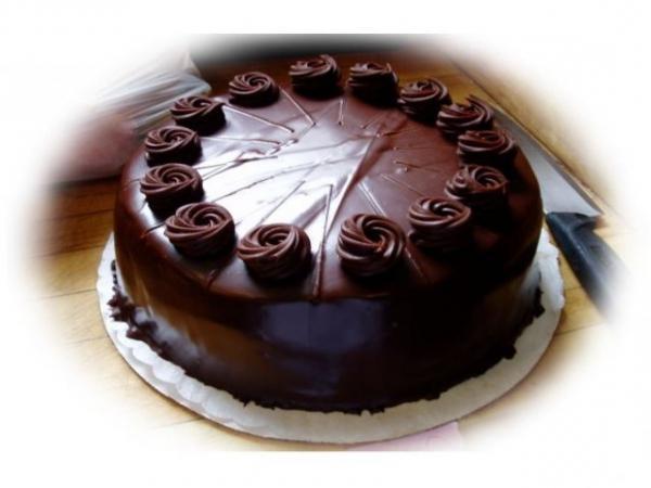 трюфельный шоколадный торт