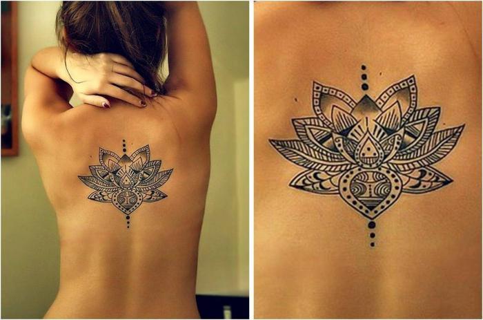 татуировки цветы на спине