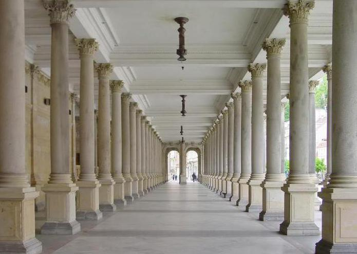 The colonnade is an element of architecture