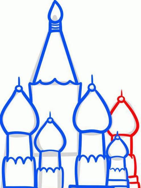 как нарисовать карандашом кремль