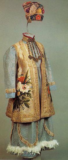татарский народный костюм вышивка