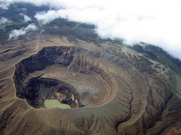 Схема вулкана везувий