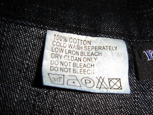 треугольник на бирках одежды