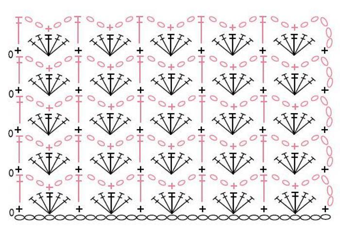 Галочка на схеме вязания 1000
