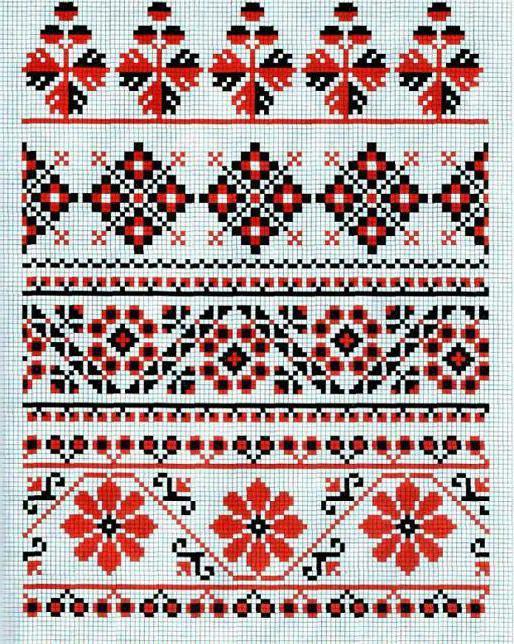Рушник вышивка крестом ромбы