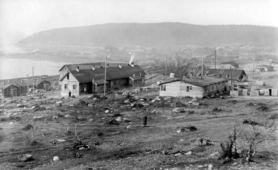 Мурманск в 1918 году