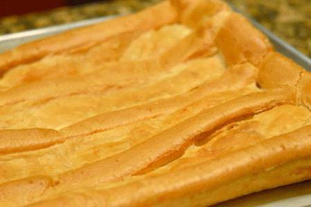 Заварной торт со сметанным кремом
