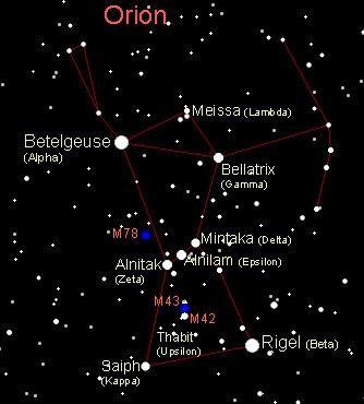 как выглядит созвездие орион