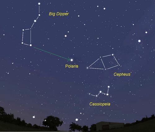 Кассиопея. Найти созвездия