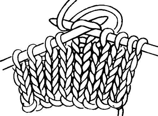 виды петель при вязании спицами