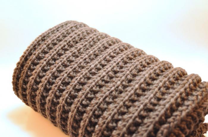 вязание польской резинки спицами