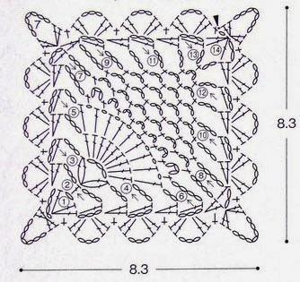 схема салфетки связанной крючком